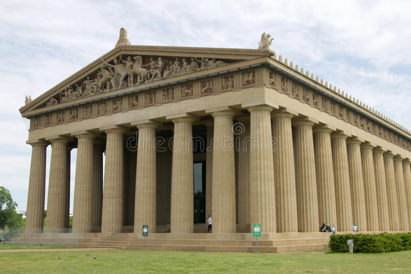 Edificio histórico del Parthenon en la universidad de Vanderbilt foto de archivo libre de regalías