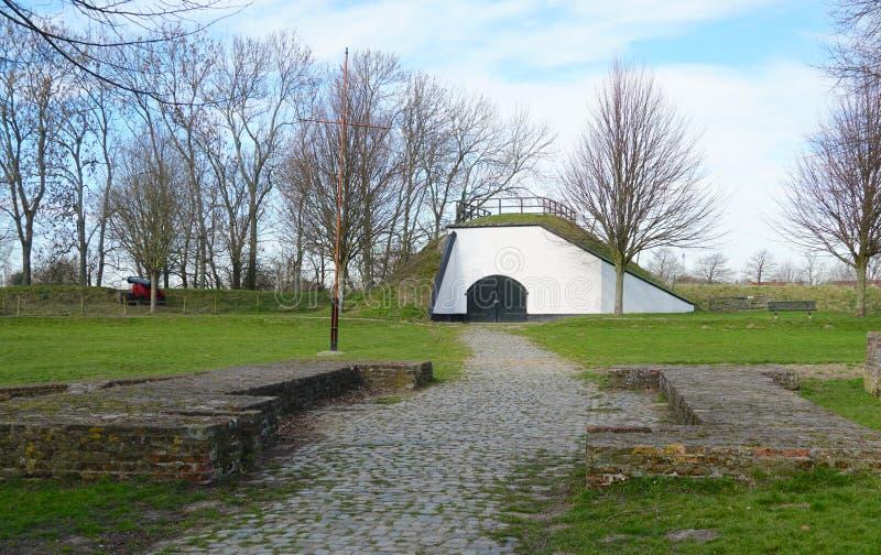 Edificio histórico en Brielle, los Países Bajos fotos de archivo libres de regalías