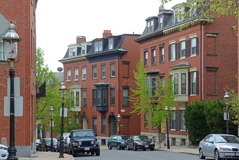 Edificio histórico en Charlestown, Boston, mA, los E.E.U.U. foto de archivo libre de regalías