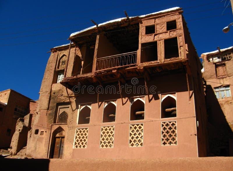Edificio histórico en la aldea de Abyaneh fotografía de archivo libre de regalías