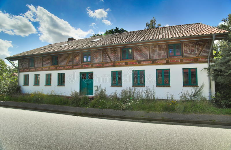 Edificio histórico en la ciudad de Horst, Mecklemburgo-Pomerania Occidental, Alemania foto de archivo libre de regalías