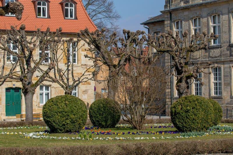Edificio histórico y nuevo palacio Bayreuth imagenes de archivo