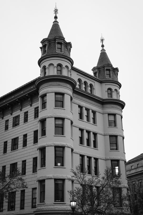 Edificio hist?rico en Indiana Plaza, en Washington c?ntrico, DC fotografía de archivo