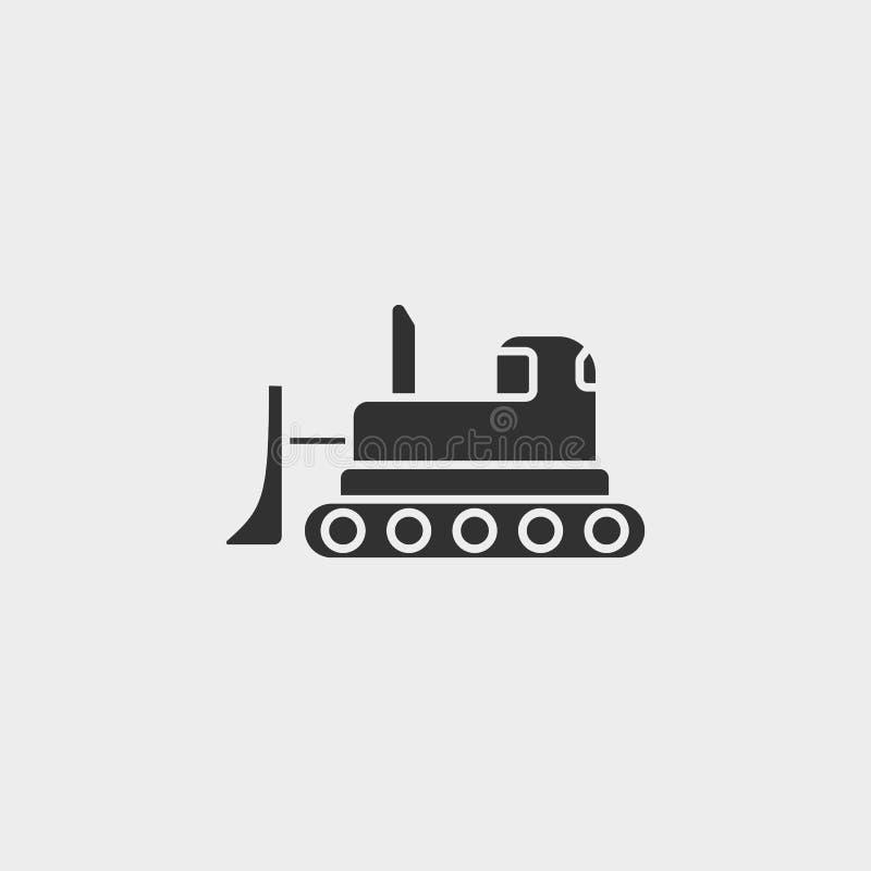 Edificio, hormigón, icono, símbolo aislado ejemplo plano de la muestra del vector - negro del vector del icono de las herramienta stock de ilustración