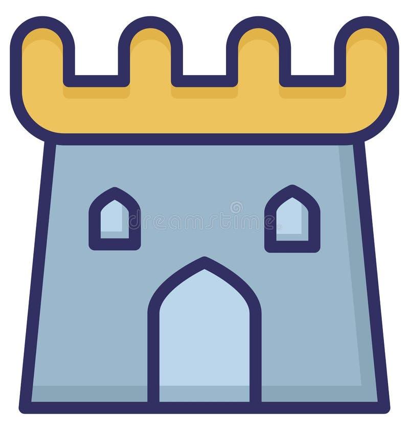 Edificio, icono aislado castillo del vector que puede ser fácilmente corregir o se modificó libre illustration
