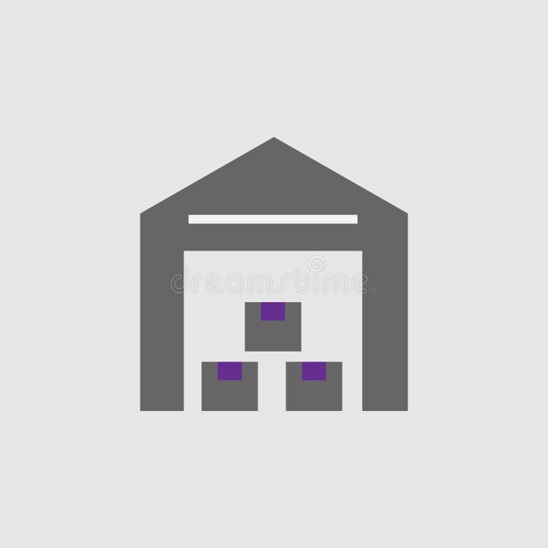 Edificio, icono de los cajones Elemento del icono de la entrega y de la logística para los apps móviles del concepto y de la web  stock de ilustración