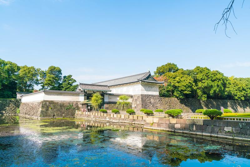 Edificio imperial hermoso del palacio en Tokio imágenes de archivo libres de regalías