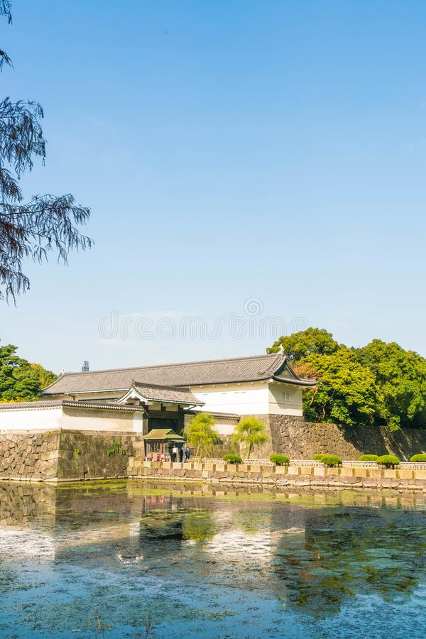Edificio imperial hermoso del palacio en Tokio fotografía de archivo