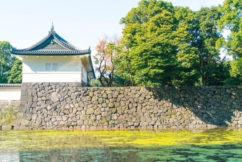 Edificio imperial hermoso del palacio en Tokio fotografía de archivo libre de regalías