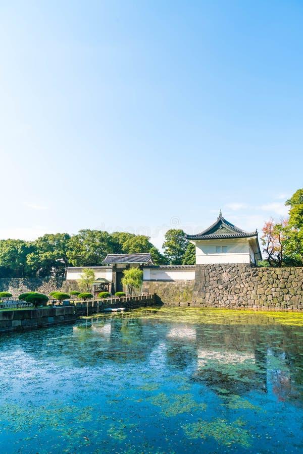 Edificio imperial hermoso del palacio en Tokio foto de archivo