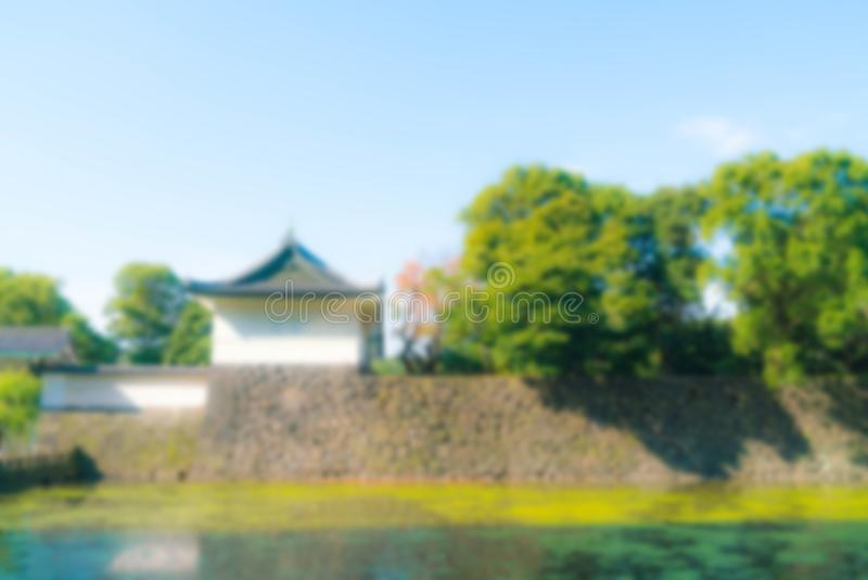 Edificio imperial hermoso del palacio en Tokio imagen de archivo