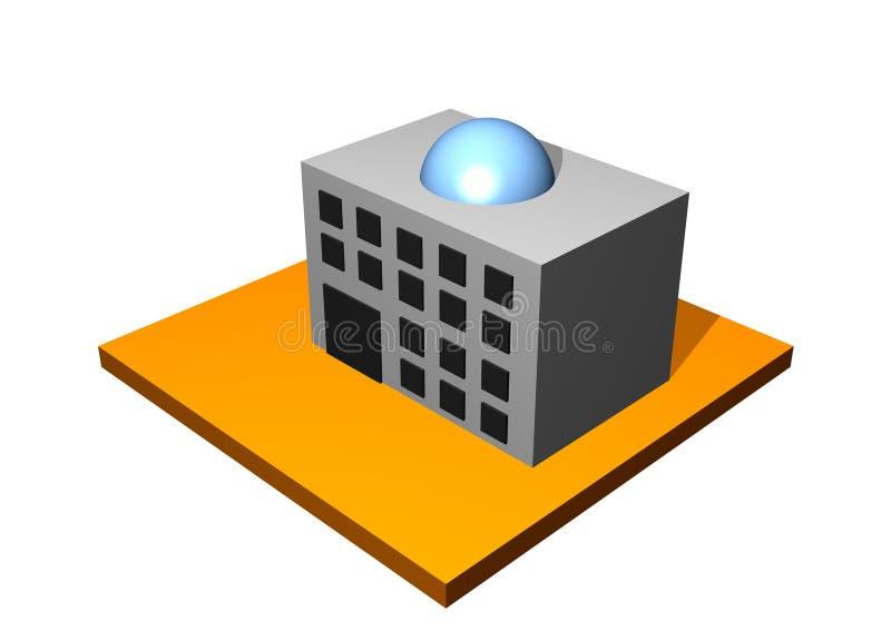 Edificio industrial de la fábrica ilustración del vector