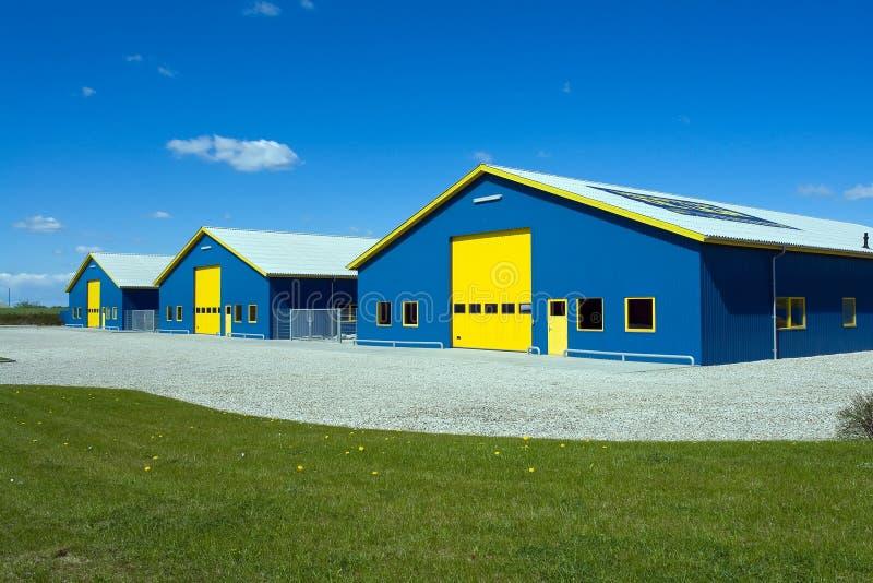 Edificio industrial de la salida fotografía de archivo libre de regalías