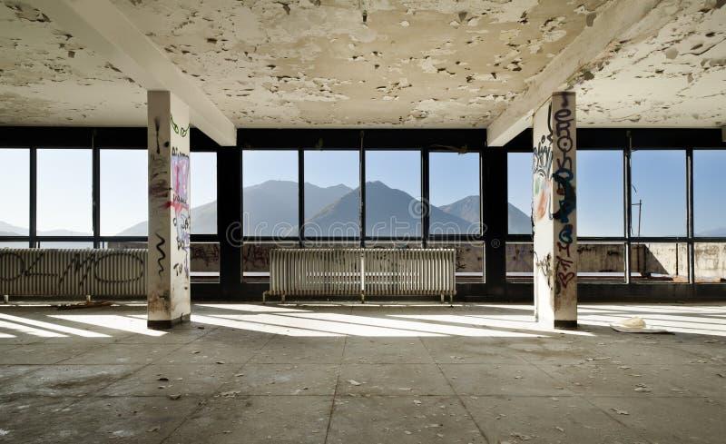 Edificio interior, abandonado fotos de archivo