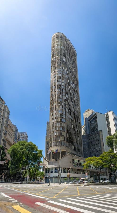 Edificio Italia Włochy budynek w w centrum Sao Paulo, Sao Paulo -, Brazylia zdjęcia stock
