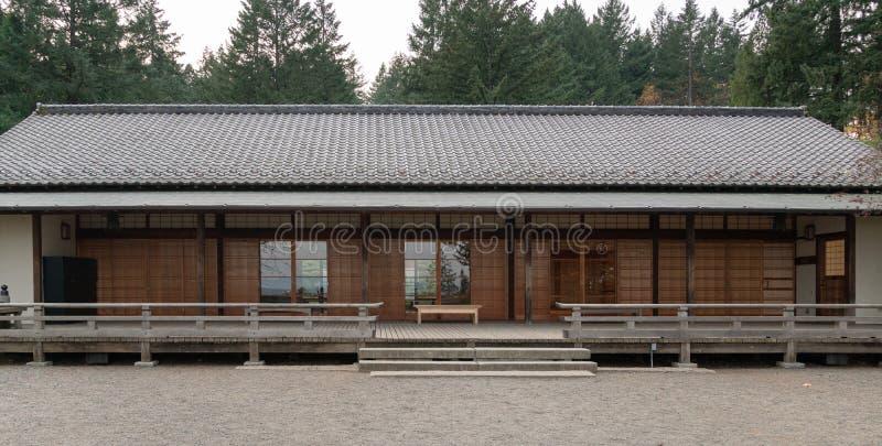 Edificio japonés del comedor imagen de archivo libre de regalías