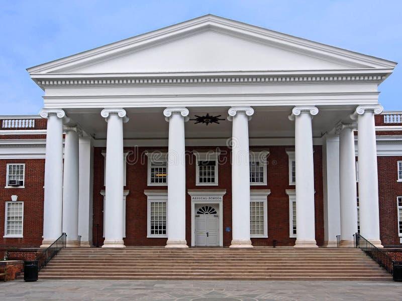 Edificio meridional de la universidad del estilo imagen de archivo