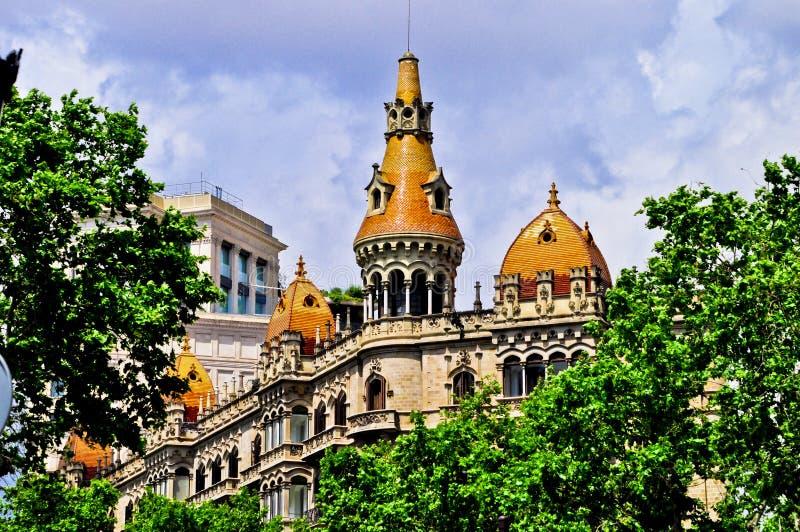 Edificio-modernista - Barcelona España stockbilder