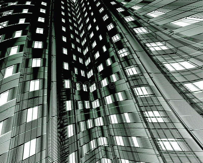 Edificio moderno abstracto libre illustration