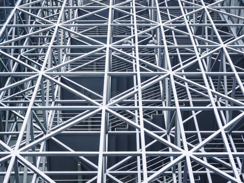Edificio moderno de la estructura de acero del metal foto de archivo libre de regalías