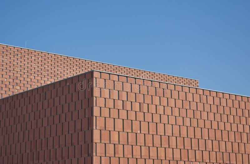 Edificio moderno de Minimalistic, campus de la configuración fotografía de archivo
