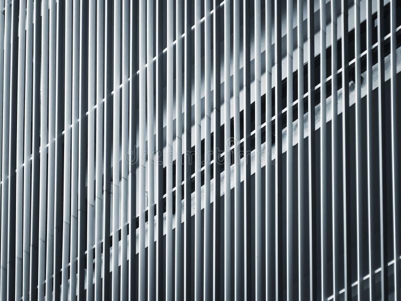 Edificio moderno del modelo de la arquitectura del detalle del modelo de acero de la fachada foto de archivo libre de regalías