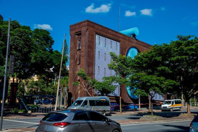 Edificio moderno en Belo Horizonte fotografía de archivo