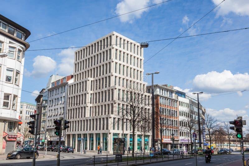 Edificio moderno en la ciudad de Bremen imagen de archivo
