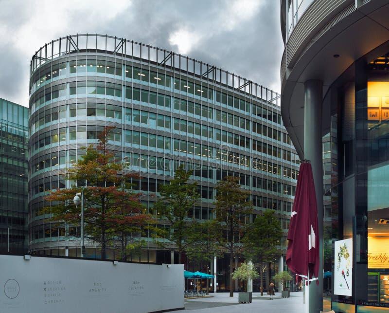 Edificio moderno en Manchester imágenes de archivo libres de regalías