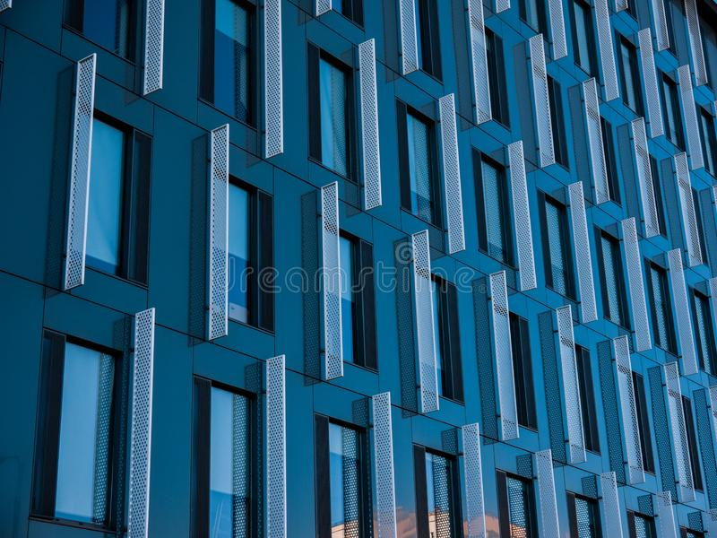 Edificio moderno a Lodz fotografia stock