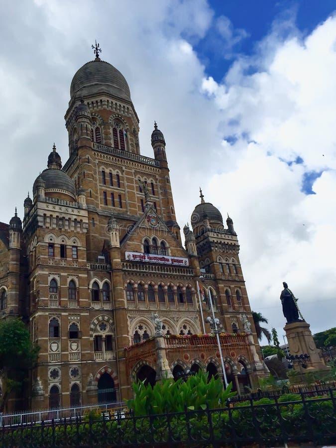 Edificio municipal de Bombay, Bombay, la India fotografía de archivo libre de regalías