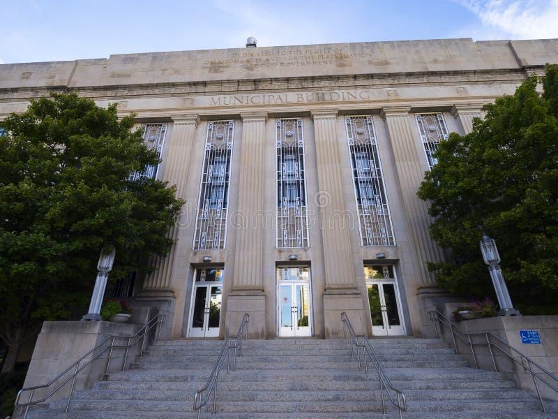 Edificio municipal en el Oklahoma City fotos de archivo