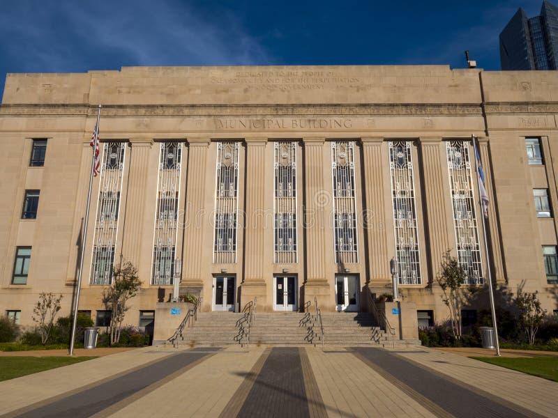 Edificio municipal en el Oklahoma City imágenes de archivo libres de regalías
