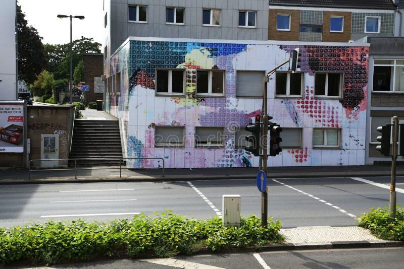 Edificio mural en Colonia, Alemania fotografía de archivo