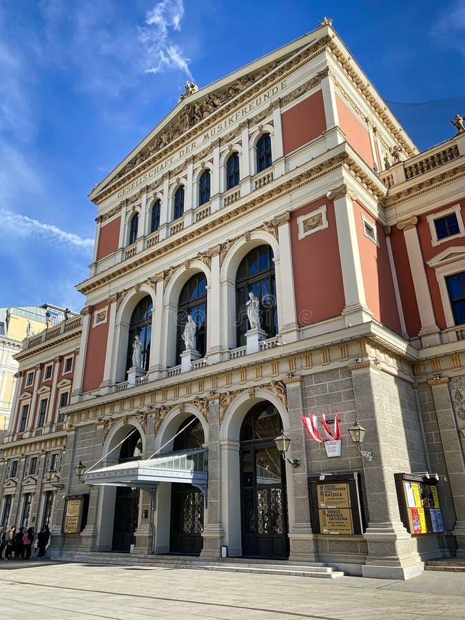 Edificio Musikverein Viena fotografía de archivo libre de regalías