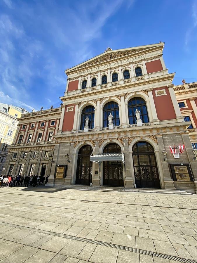 Edificio Musikverein Viena imagenes de archivo