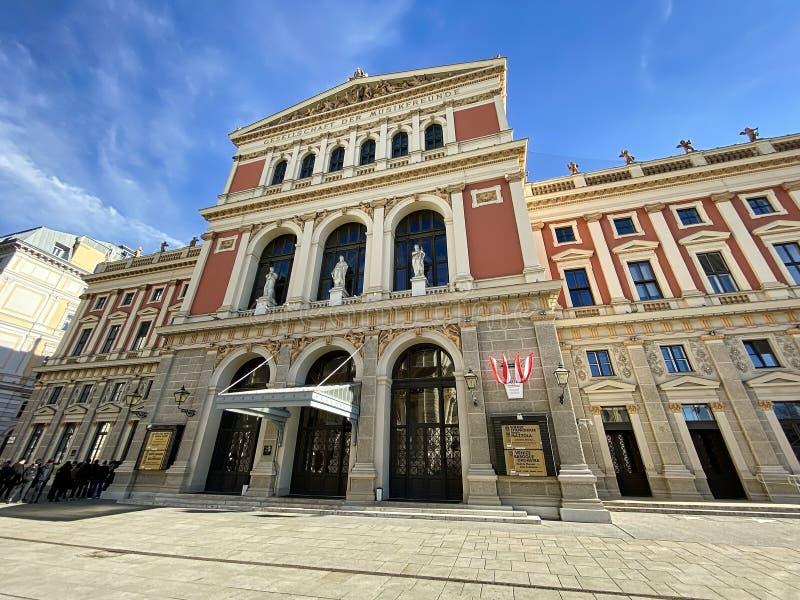 Edificio Musikverein Viena fotos de archivo libres de regalías