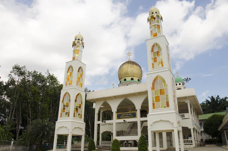 Edificio Pak Cheed Masjid o Miftahul oficialmente llamado Mumineen imagenes de archivo