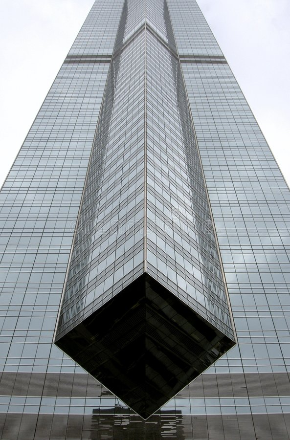 Edificio per uffici del highrise di Hong Kong immagini stock libere da diritti