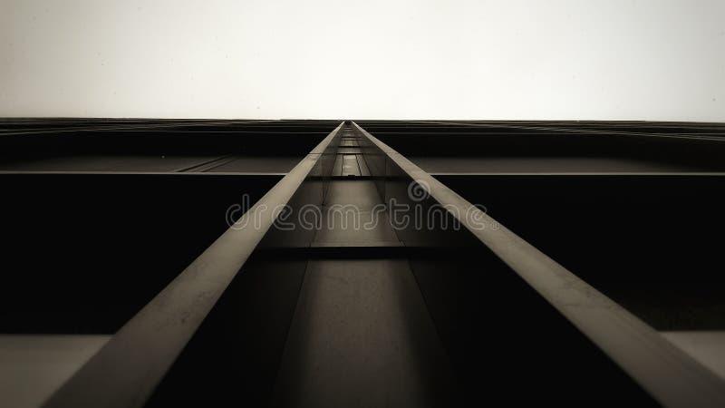 Edificio per uffici di vetro di nuova progettazione astratta nera fotografia stock libera da diritti
