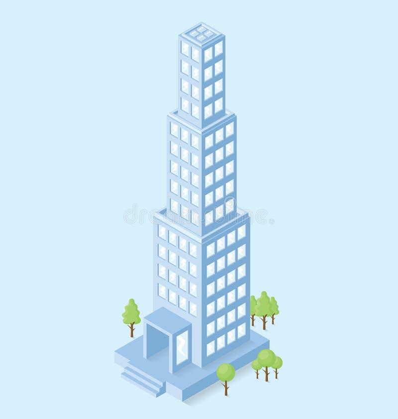 Download Edificio Per Uffici Isometrico Piano Di Vettore 3d Illustrazione Vettoriale - Illustrazione di centro, aria: 56875661