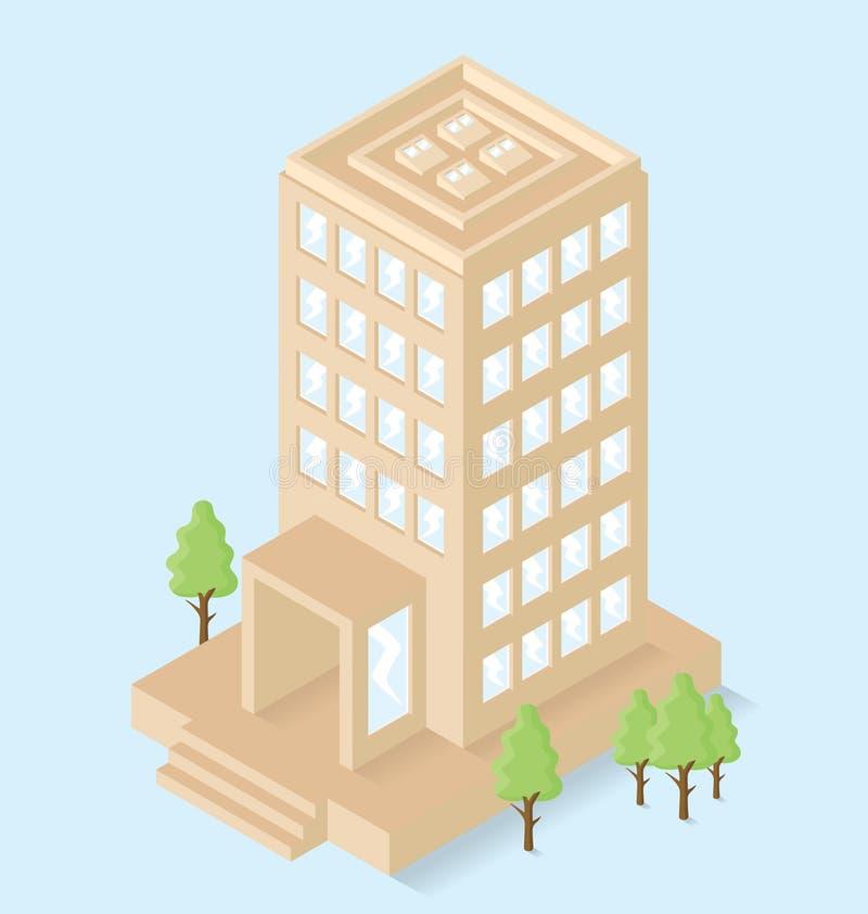 Download Edificio Per Uffici Isometrico Piano Di Vettore 3d Illustrazione Vettoriale - Illustrazione di finestre, schema: 56875671
