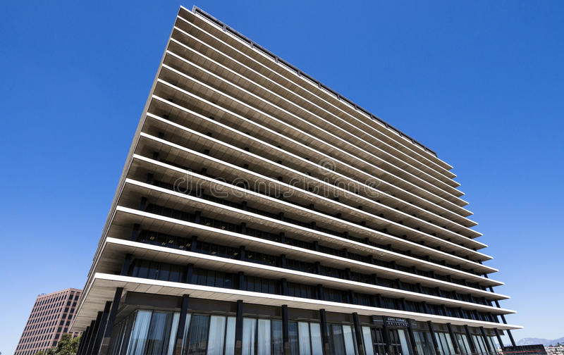 Edificio per uffici moderno a Los Angeles fotografia stock libera da diritti