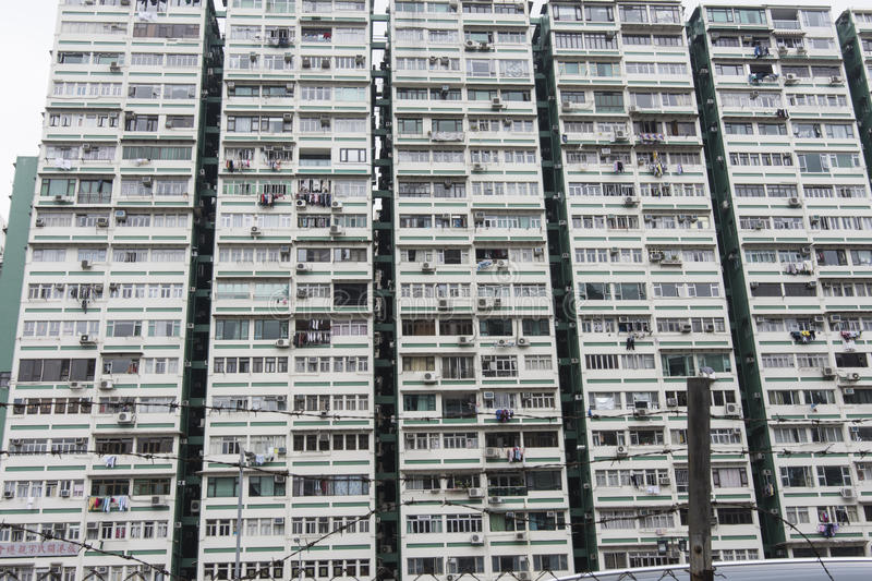 Edificio popular en Hong Kong fotos de archivo libres de regalías