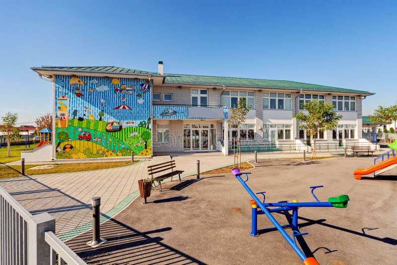 Edificio preescolar fotografía de archivo libre de regalías