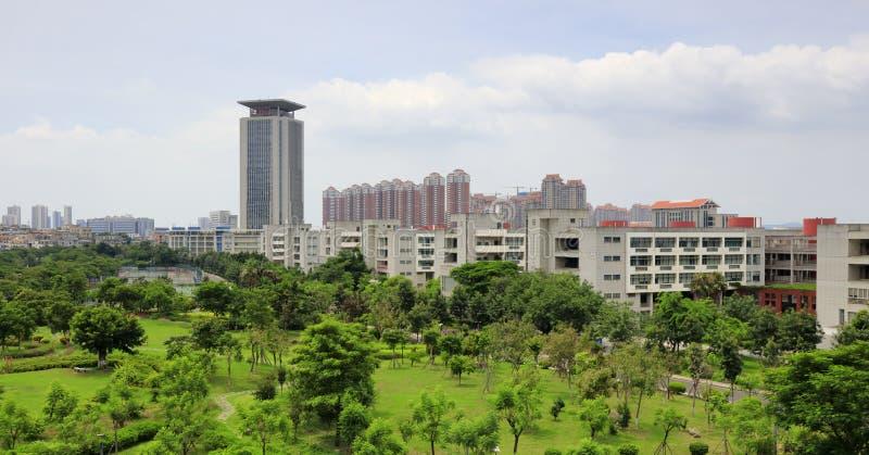 Edificio principal del campus de Xiamen de la universidad de Huaqiao, adobe rgb foto de archivo