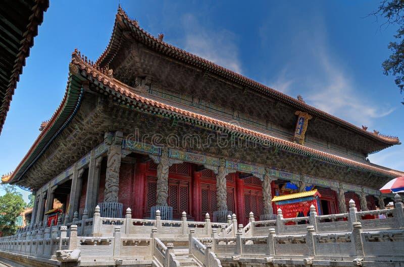 Edificio principal del templo de Confucius en Qufu fotografía de archivo libre de regalías
