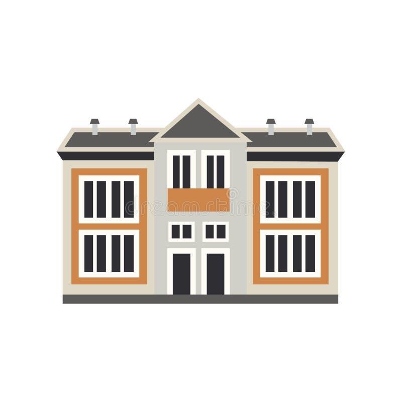 Edificio privado plano de la cabaña de la casa del vector libre illustration