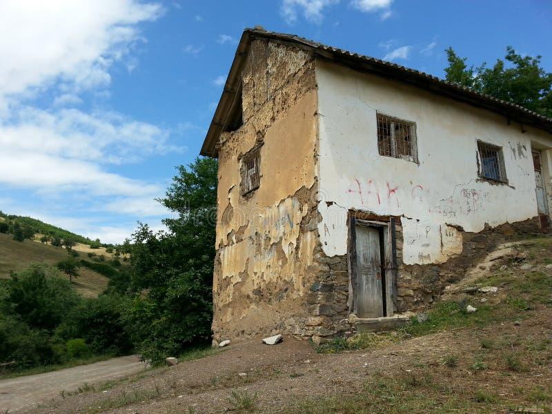 Edificio rápido viejo de la ayuda foto de archivo