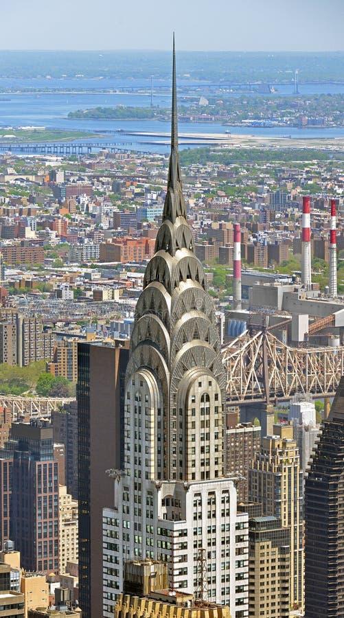 Edificio 1930, rascacielos supertall de Chrysler del art déco en la bahía de la tortuga en Midtown Manhattan New York City fotos de archivo